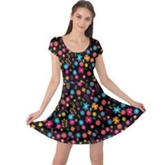 Floral Pattern Cap Sleeve Dresses by Valentinaart