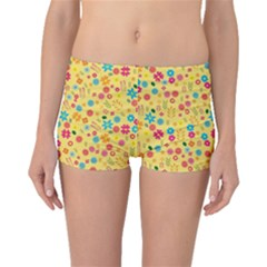 Floral Pattern Boyleg Bikini Bottoms by Valentinaart