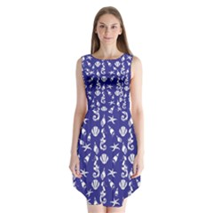 Seahorse Pattern Sleeveless Chiffon Dress   by Valentinaart