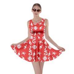 Seahorse Pattern Skater Dress by Valentinaart