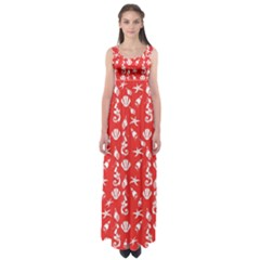 Seahorse Pattern Empire Waist Maxi Dress by Valentinaart
