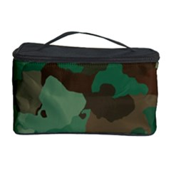 Camouflage Pattern A Completely Seamless Tile Able Background Design Cosmetic Storage Case by Simbadda