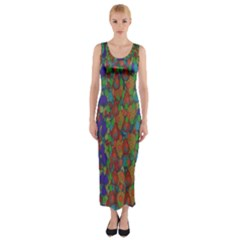 Sea Of Mermaids Fitted Maxi Dress by pepitasart