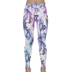 Floral Pattern Background Classic Yoga Leggings by Simbadda