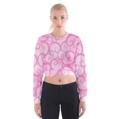 Pattern Women s Cropped Sweatshirt by Valentinaart
