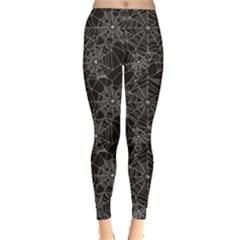 Black Halloween Spider Web Pattern Women s Leggings
