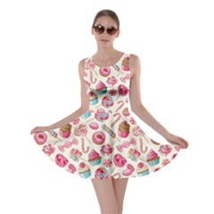 Pink Lollipop Candy Macaroon Cupcake Donut Skater Dress by CoolDesigns