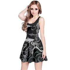 Shark In Dark Reversible Sleeveless Dress by CoolDesigns
