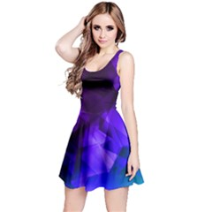 Purple & Dark Iridescent Pattern Sleeveless Skater Dress by CoolDesigns
