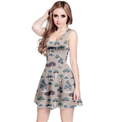 Mushrooms Pattern Sleeveless Dress