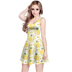Yellow Pineapple Pattern Reversible Sleeveless Dress by CoolDesigns