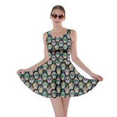 Black Day Of The Dead Sugar Skull Skater Dress by CoolDesigns