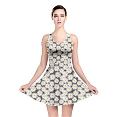 Colorful Daisies Pattern Reversible Skater Dress