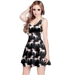 Black Unicorn Seamless Sleeveless Skater Dress by CoolDesigns