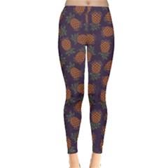 Purple Pattern Of Pineapple Women s Leggings