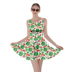 Green Vegetable Pattern Skater Dress by CoolDesigns