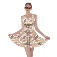 Nude Middle Finger Hands Pattern Skater Dress by CoolDesigns