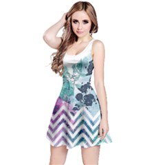 Colorful2 Floral Sleeveless Skater Dress  by CoolDesigns