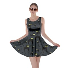 Black Cats Design Pattern Skater Dress by CoolDesigns