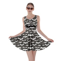 Black Halloween Pattern Skater Dress by CoolDesigns