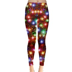 Xmas Lights Leggings  by CoolDesigns