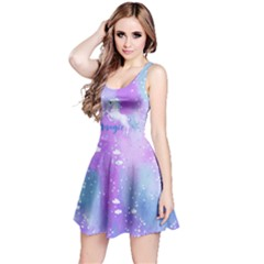 Purple Blue Unicorn Reversible Sleeveless Dress by CoolDesigns