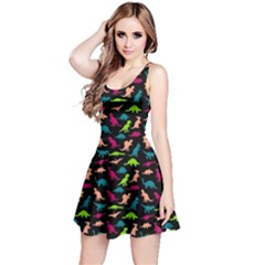 Black Dinosaur Sleeveless Dress by CoolDesigns