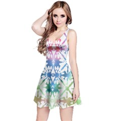 Colorful Tie Dye Reversible Sleeveless Dress
