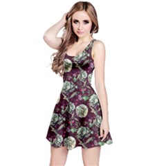 Paeonia2 Floral Sleeveless Skater Dress  by CoolDesigns