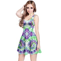 Neon Green Tie Dye Reversible Sleeveless Dress by CoolDesigns
