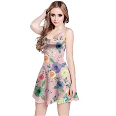 Colorful6 Floral Sleeveless Skater Dress  by CoolDesigns