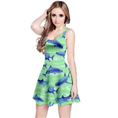 Green Shark Reversible Sleeveless Dress by CoolDesigns