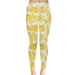 Yellow Cheese Pattern Leggings