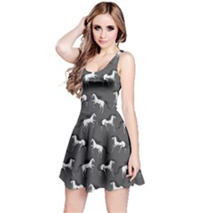 Dark Gray Unicorn Seamless Sleeveless Skater Dress  by CoolDesigns