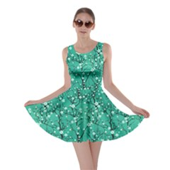 Mint Tree Pattern Japanese Cherry Blossom Skater Dress by CoolDesigns
