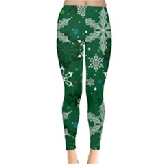 Green Snowy Leggings  by CoolDesigns