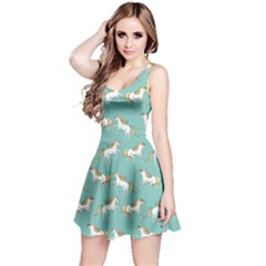 Mint Unicorn Seamless Sleeveless Skater Dress  by CoolDesigns