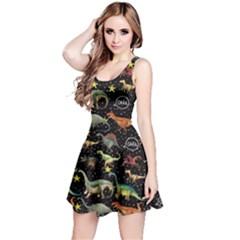 Dark Dino Walking Reversible Sleeveless Dress