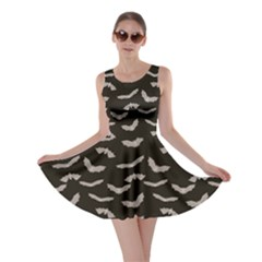 Black Halloween Bats Skater Dress