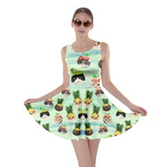 Fruit  Cat Mint Skater Dress by CoolDesigns