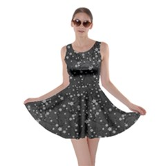 Dark Gray Tree Pattern Japanese Cherry Blossom Skater Dress by CoolDesigns