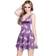 Violet Unicorn Seamless Sleeveless Skater Dress  by CoolDesigns