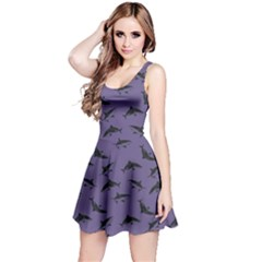 Violet Pattern Sharks Reversible Sleeveless Dress by CoolDesigns