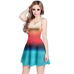 Sunrise Gradient Reversible Sleeveless Dress by CoolDesigns