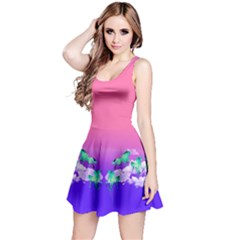 Purple & Pink Sky Reversible Sleeveless Dress by CoolDesigns