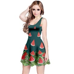 Watermelon Dark Reversible Sleeveless Dress by CoolDesigns