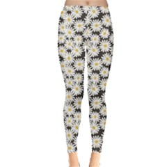 Colorful Daisies Pattern Leggings by CoolDesigns