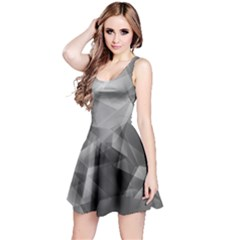 Gray Iridescent Pattern Sleeveless Skater Dress by CoolDesigns