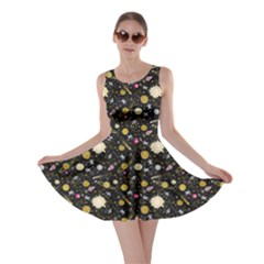 Space Yellow Skater Dress by CoolDesigns