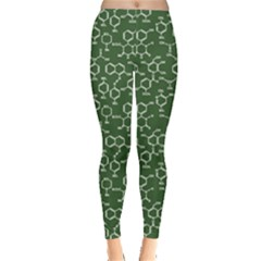 Green Organic Chemistry Pattern With Formulas Women s Leggings by CoolDesigns